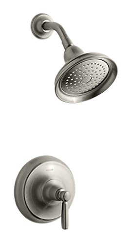 Kohler TS10583-4-BN Bancroft Rite-Temp shower valve trim with metal lever handle and 2.5 gpm -