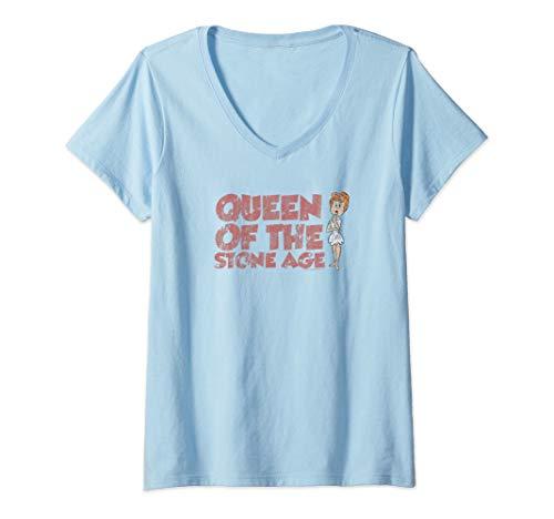 Womens The Flintstones Vintage Queen Wilma V-Neck T-Shirt]()
