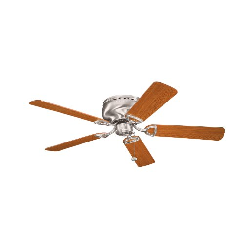Kichler 339022BSS, Stratmoor Brushed Stainless Steel Flush Mount 52 Ceiling Fan
