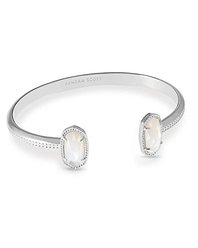 (Kendra Scott Signature Elton Cuff Bracelet (Rhodium/Ivory Mother Of Pearl))