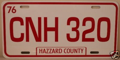 Dukes of Hazzard General LEE License Plate 1969 Charger CNH 320 Fan Redneck Southern Rebel South Moonshine Nascar ()