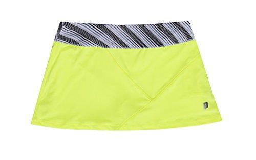 Prince Tennis Ball (Prince Girls Knit Athletic Tennis Skort, Lemoncello, X-Large/16)