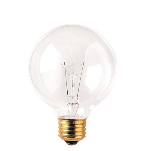 Bulbrite 40G25CL2-8PK 40W G25 Globe 120V Medium Base Light Bulb, Clear, 8-Pack