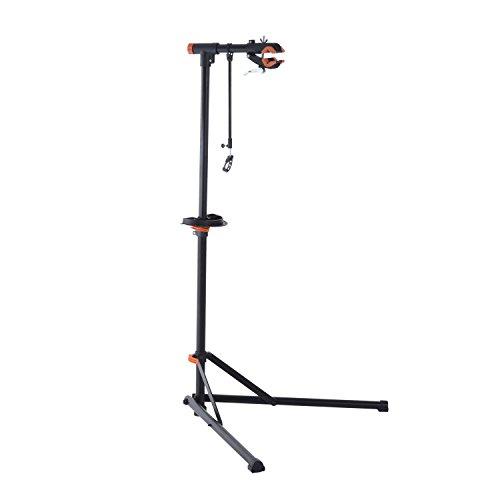 "Aosom 61"" Adjustable Portable Folding Bike Repair Work Stand Rack Black"