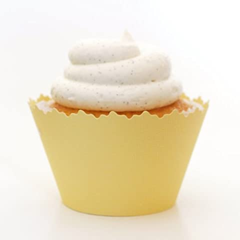 Banana Cream Yellow Cupcake Wrapper - Set of 12 Liners - Essential Decorating Supply for Muffins or - Simply Delicious Muffins
