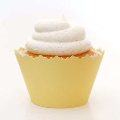 (Cupcake Wrappers Solid Colors Adjustable - Set of 12 (Banana Cream)