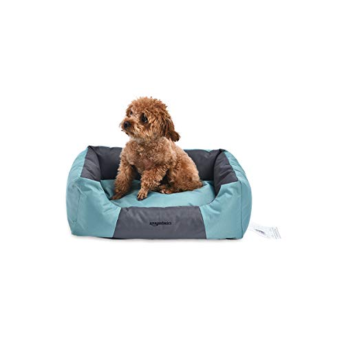 AmazonBasics Water-Resistant Pet Bed - Rectangular, Teal, 17.7 Inch