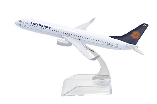 TANG DYNASTY(TM) 1:400 16cm Boeing B-737 Lufthansa Airlines Metal Airplane Model Plane Toy Plane Model