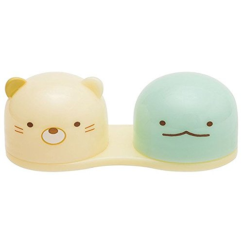 San-X Sumikkogurashi Contact Case Cat & Lukewarm From Japan New (Where Can I Buy Cat Eye Contacts)