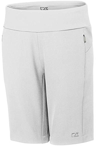 (Cutter & Buck LCB07135 Ladies' Pacific Pull On Short, White - S)