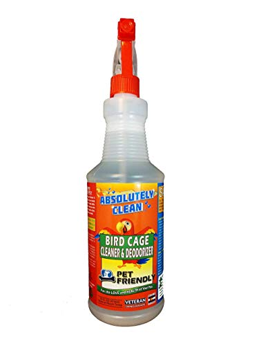 (Absolutely Clean Amazing Bird Cage Cleaner and Deodorizer - Just Spray/Wipe - Safely & Easily Removes Bird Messes Quickly and Easily - Veterinarian Approved - Made in The)