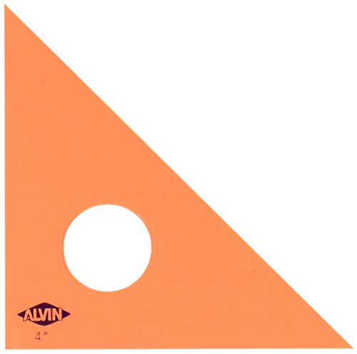 Alvin 4-Inch Fluorescent Professional Acrylic Triangle 45/90 Degrees - Tools Alvin Drafting
