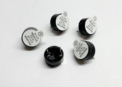 BMES 5V 12 mm Diameter Active Passive Buzzer Alarm Speaker -5 Pieces