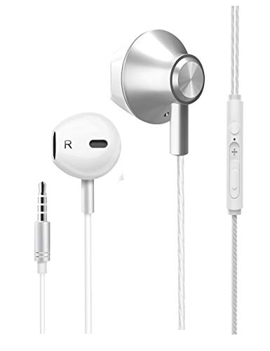 Earbuds Headphones Stereo Earphones Wired in-Ear Headset with Microphone and Noise Isolating Compatible with iOS Devices 6s/plus/6/5s/se/5c/iPad/MP3/Android Model