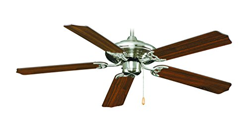 ng 1051BN-WT Transitional Caribbean 5 Blade Transitional Ceiling Fan with Walnut Blades, 52