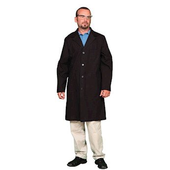 Meta Unisex Poly-Cotton Lab Coat, Black, X-Large (46-48) by Meta (Image #1)