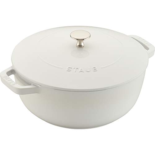 Staub 11732402 Cast Iron Essential French Oven, 3.75-quart, White