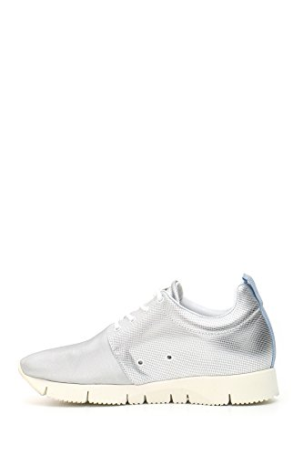 Leather Crown Zapatillas Para Mujer Plateado Plata It - Marke Größe