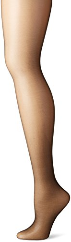 Hanes Silk Reflections Women's High Waist Control Top Sandalfoot Pantyhose, Jet, C/D