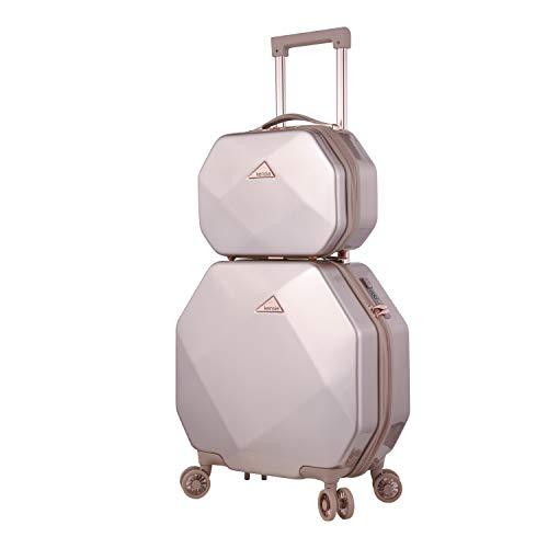kensie 3D Gemstone TSA Lock Spinner Hardside Luggage and Tote, Rose Gold Option