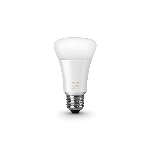 Philips 461020 Hue White Ambiance Single A19 Bulb, Works with Amazon Alexa
