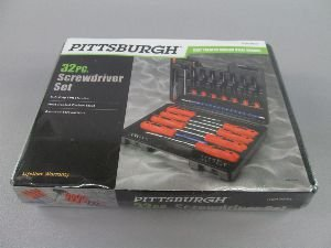 32 Piece Screwdriver Set (32 Set Pc Pittsburgh Screwdriver)