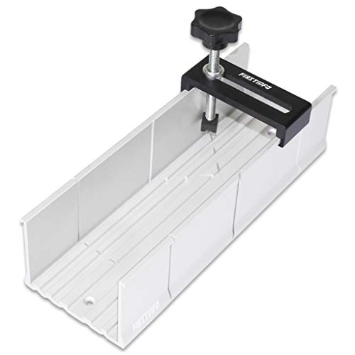 FIRSTINFO Metal Mitre Box Aluminum Mitre Box 2 inch x 3 inch with Fix Screw for Hand Saw 3 Cutting Angles