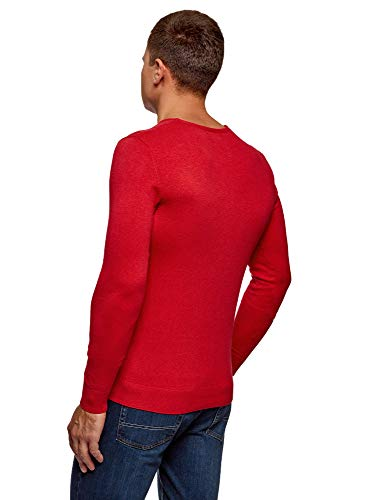 4501m Homme Rond Basique À Pull Col Oodji Ultra Rouge 6qvSw8W
