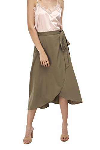 Our Heritage Women's Skirt Women's Khaki Romantic Wrap Skirt (M) ()