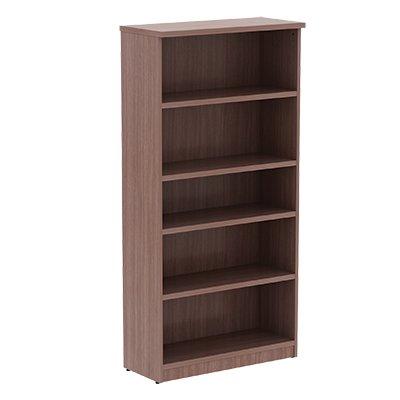 SedLivo Laminate Five-Shelf Bookcase, Walnut