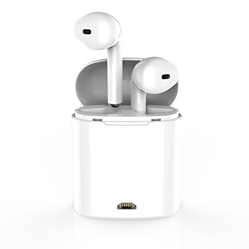 WSCSR Wireless Bluetooth Earbuds Headphones Stereo In-Ear Earpieces Earphones Hands Free Noise Cancelling for Apple airpods iPhone X 8 8plus 7 7plus 6S Samsung Galaxy S7 S8 IOS Android Smart Phones