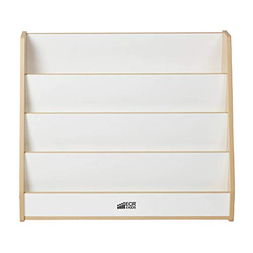 ECR4Kids Colorful Essentials 4-Tier Book Display Stand, White and Maple by ECR4Kids (Image #7)