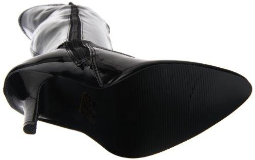 Pleaser SEDUCE-3050, Damen Over-Knee Stiefel, Schwarz (Schwarz (Blk Str Pat)), 42 EU (9 Damen UK)