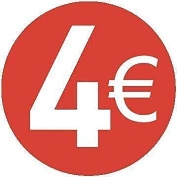13mm Rot 12 /€ Euro 500er Pack Price Stickers