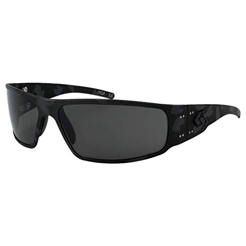 Gatorz Magnum Black Cerakote Camo, Aluminum Frame Sunglasses - Made in The USA (Smoked Polarized Lens)