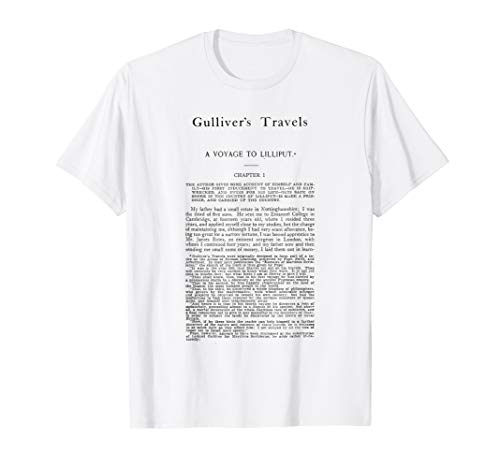 HIGH RESOLUTION Gulliver's Travels Jonathan Swift First Page T-Shirt
