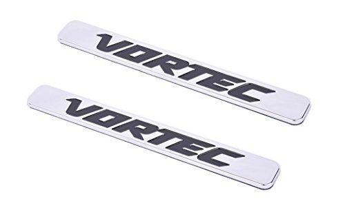 Aimoll 2pcs Vortec Emblems, Badges for Chevrolet 2500hd GMC Sierra Silverado Gm Truck Liter Badges (Chrome)