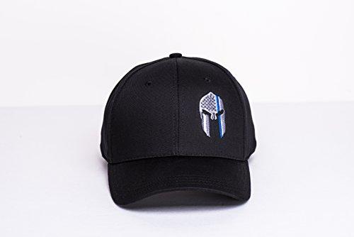 Police-Thin-Blue-Line-Spartan-Helmet-Cap