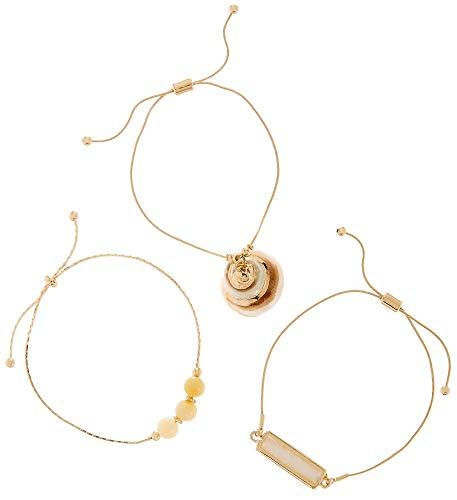 Bay Studio 3-pc. Gold Tone Shell Slider Bracelet Set One Size Gold Tone