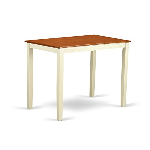 - East West Furniture YAT-WHI-H Yarmouth Counter Height Table, Buttermilk/Cherry Finish