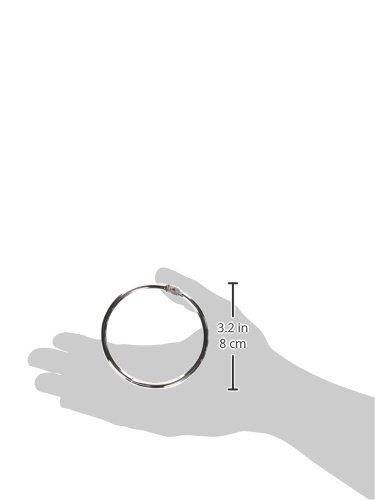 10 pezzi colore: argento Book Looseleaf Album ad anelli in metallo 80 mm