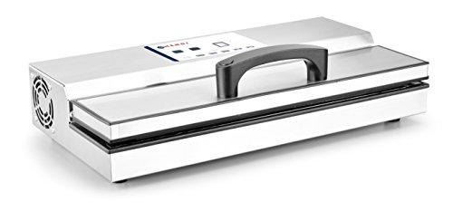 HENDI Vakuumiergerät, Vakuum-Verpackungsmaschine, Verwendbar mit HENDI Beutelrollenhalter 970638, Schweißleiste: 420mm, Doppelpumpe: 16 l/min, 230V, 650W, 490x260x(H)145mm, Edelstahl