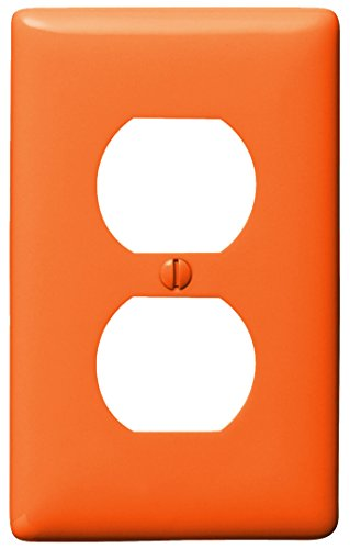 Bryant Electric NP8OR 1-Gang 1-Duplex Nylon Wallplate, Orang