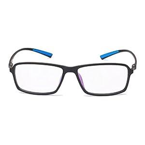 Beison TR90 Sports Glasses Optical Eyeglasses Flexible Frame 55mm (Matte black, 55mm)