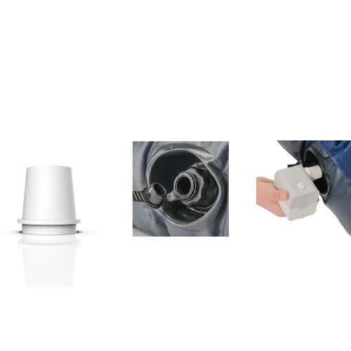 Flextail-Ausr/üstung aufblasbare Luftmatratze Pumpe Tropo-Batterie Blau