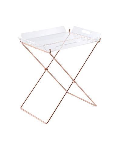 Acme Cercie Tray Table, Clear Acrylic & Copper