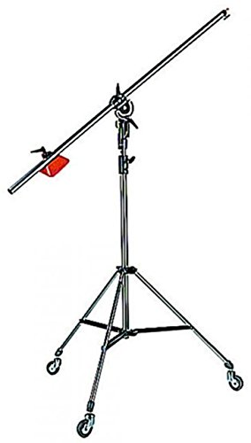 Manfrotto 085BS Heavy Duty Light Boom Includes 008BU Stand with Casters (Black) by Manfrotto