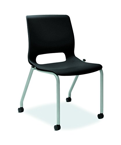 HON HONMG102ONP Motivate Stacking Chair, Onyx