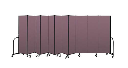Screenflex Commercial Portable Room Divider (CFSL6811-DM) 6 Feet 8 Inches High by 20 Feet 5 Inches Long, Designer Rose Fabric