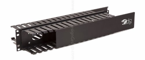 2u Slotted Panel (2U Cable Management Panel, Double-Sided 3X3 Front, 2X4 Rear, 20.125